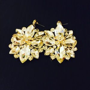 Jewelry - Crystal Clear Statement Earrings